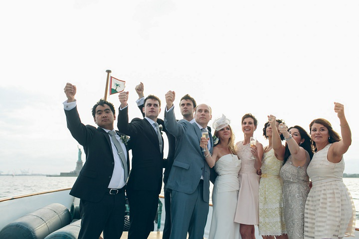 New York Yacht Wedding by LJM Photography