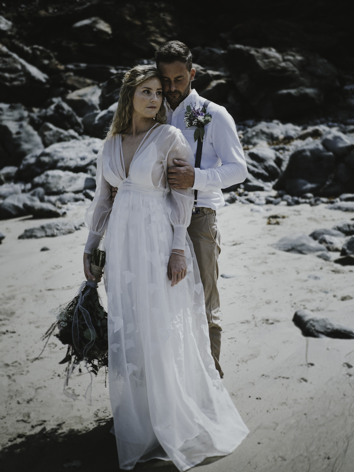Nordic Bohemian Beach Wedding Inspiration