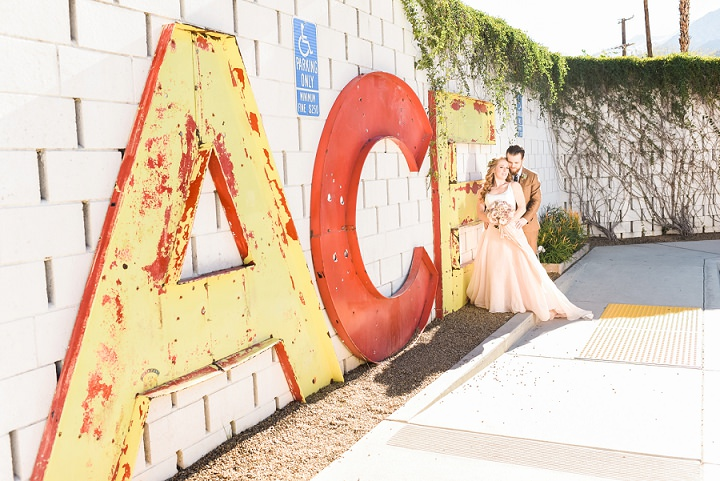 DIY Boho Ace Hotel Wedding in Palm Springs by Randy and Ashley Studios