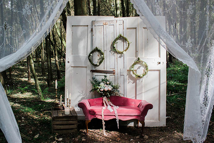 Vintage Woodland Bluebell Inspiration Shoot