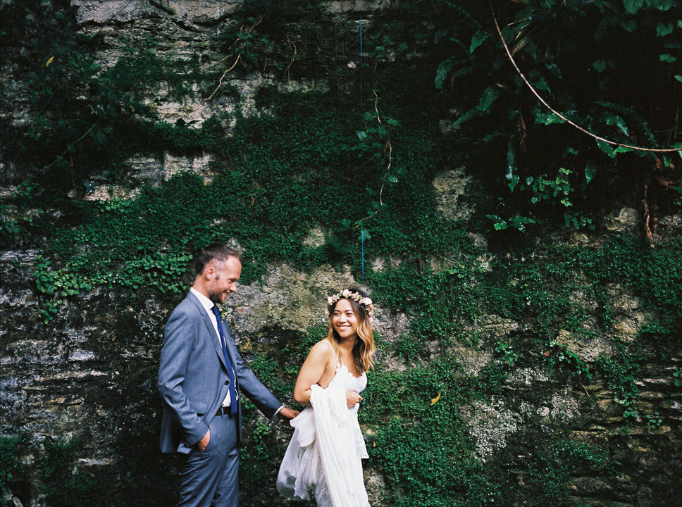 Intimate Spanish Wedding with a Grace Loves Lace Gown and First Look byDos Mas En La Mesa