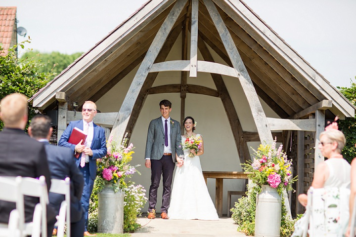 Festival Themed Summer Solstice Barn Wedding in Gloucestershire by Courtney Louise Photography