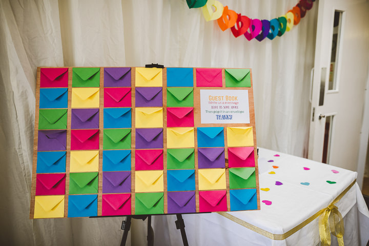 Rainbow Ribbon Wedding in Essex by Nicola Casey