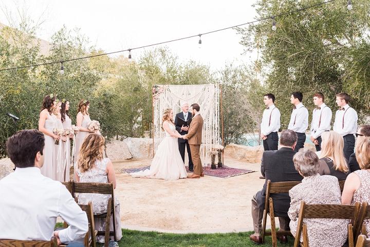DIY Boho Ace Hotel Wedding in Palm Springs by Randy and AshleyStudios