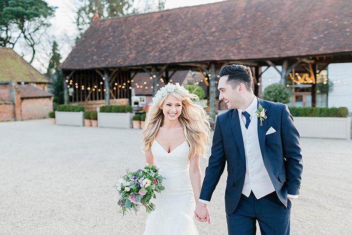 Thomas and Emily's Pretty Pastel Gaynes Park Wedding by Ilaria Petrucci
