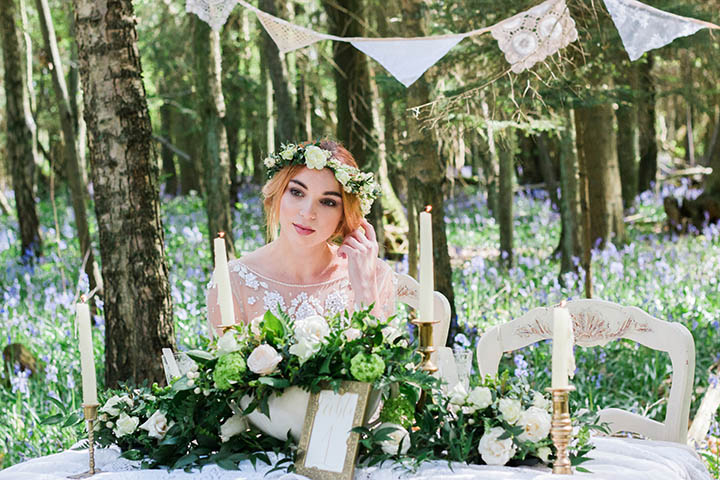 Vintage Woodland Bluebell Inspiration Shoot