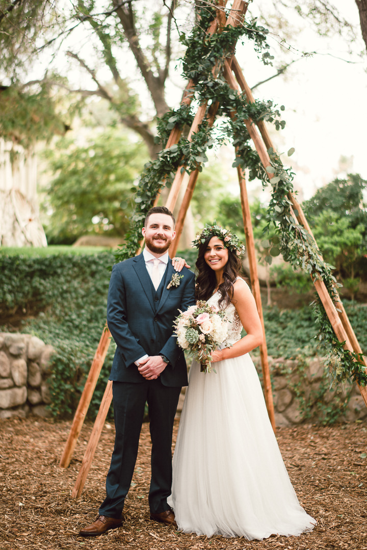 Jaimie and Jaron's 'Boho Meets Geometric' Food Truck Wedding in Las Vegas by Paulina Clute and Gin and Sake