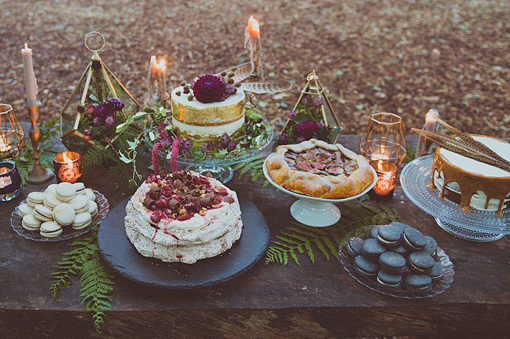 Boho Glamour Forest Inspiration with Birds of Prey from Sasha Weddings