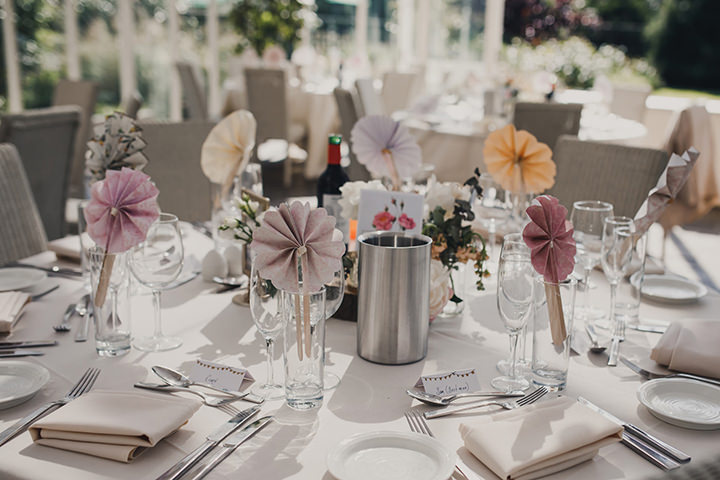 Blush and Peach Glamorous Country Cheshire Garden Wedding by Mark Tattersall