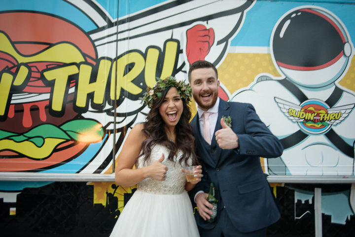 'Boho Meets Geometric' Food Truck Wedding in Las Vegas by Paulina Clute and Gin and Sake