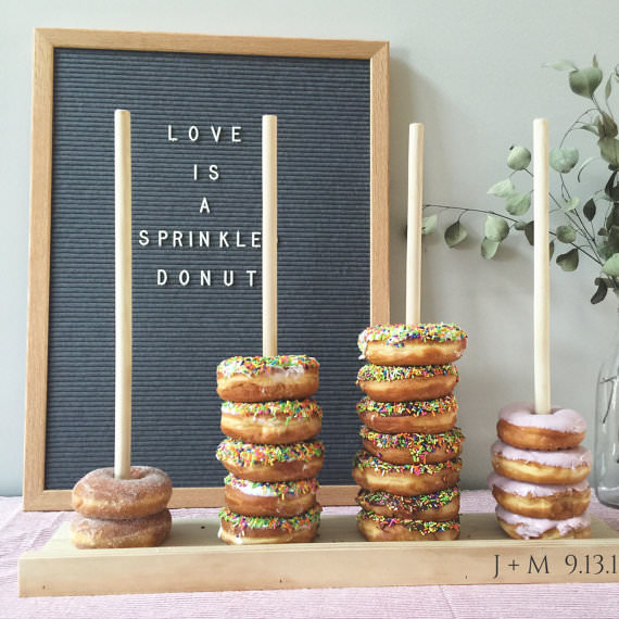 Boho Pins: Top 10 Pins of the Week - Doughnuts at Weddings