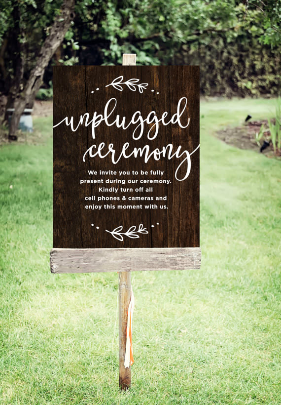 Ask the Experts: Reasons to have an Uplugged Wedding, from James and Lianne