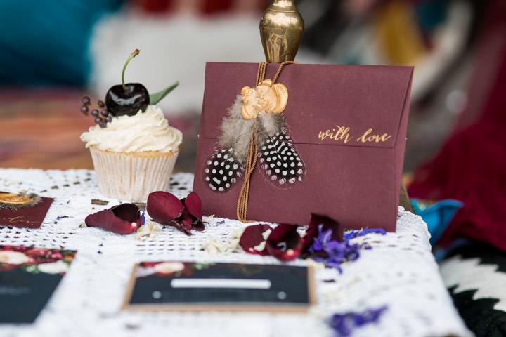 Burgundy and Bohemian Festival Wedding Inspiration