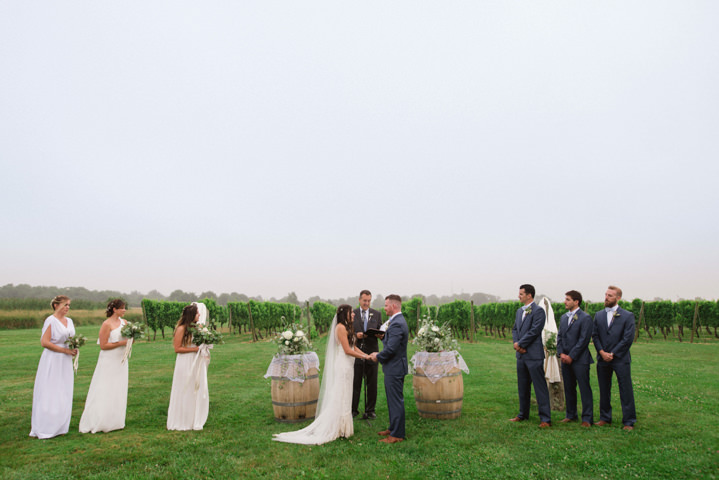 Christopher and Kasey's White and Green Outdoor Vineyard Wedding by Selene Pozzer