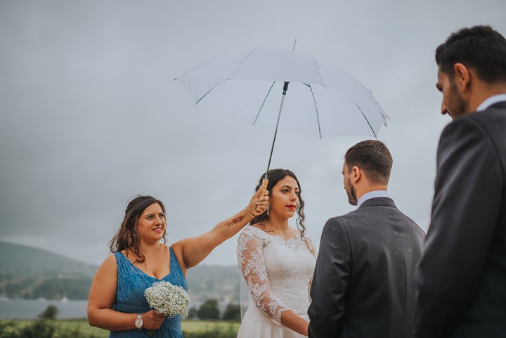 Mariam and Liam's Rainy Cumbrian Tipi Wedding with Arabic Touches by Craig Richards
