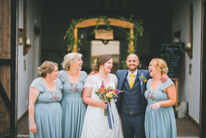 Charlotte and Steven's Hessian and Gingham Gloucestershire Barn Wedding by Lewis Fackrell