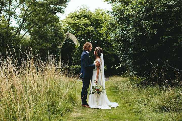 James and Anna's Natural and Relaxed Suffolk Tipi Wedding by Kate Chilver