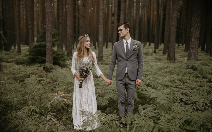 Beautiful Bohemian Barn Wedding in Latvia with by Riverside Films