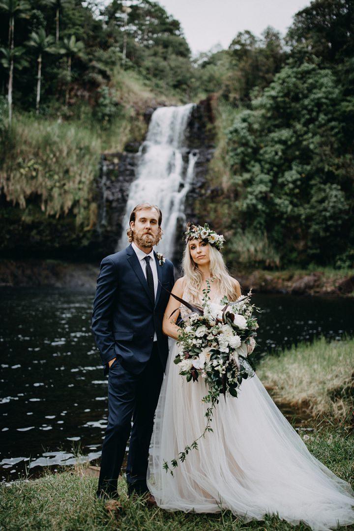 'Wild, Free and Adventurous' Moody Waterfall Wedding Inspiration