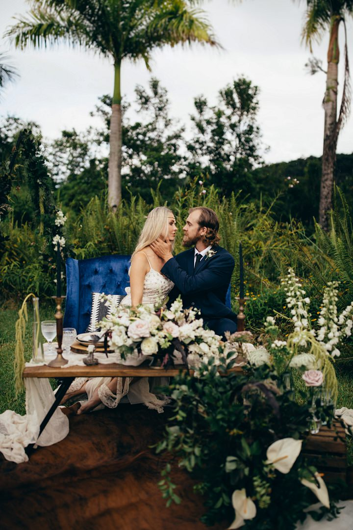'Wild, Free and Adventurous' Moody Waterfall Wedding Inspiration