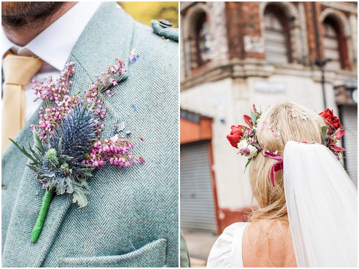 Ross and Ciara's Industrial Fairy Woodland Scottish Wedding all Planned in 2 Months by Roma Elizabeth Photography
