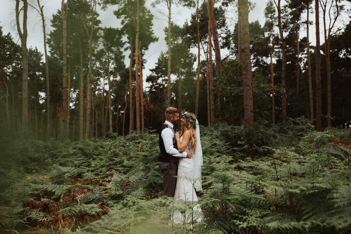 Bethany and Phil's Bohemian Tipi Wedding in the Woods by Colin Ross
