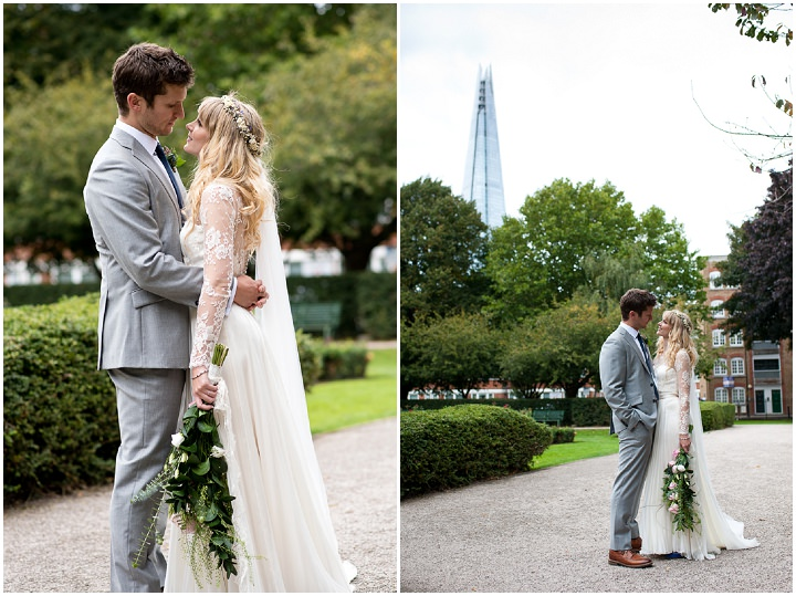 Katie and Tom's DIY Mis-Matched London Warehouse Wedding by Annelie Eddy