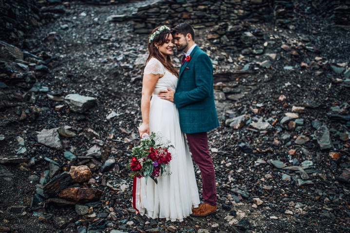 Danielle and Mike's Rainy Boho Festival Themed Wedding in The Lake District by Clara Cooper Photography