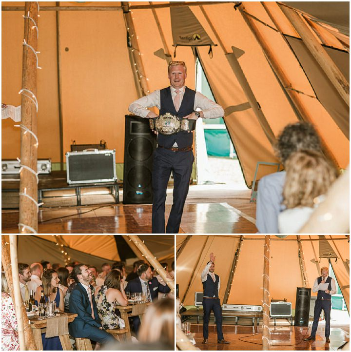 Toby and Carla's Relaxed Tipi Wedding With Street Food and a Daisy Field by Philip Quinnell