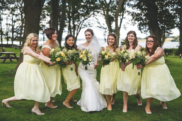 Jennifer and Dean's Woodland Themed Yellow Wedding by Gareth Newstead