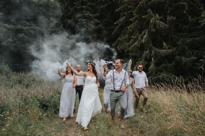 Nils and Jenni's Beautifully Simple DIY Bohemian Barn Wedding by Photo Design