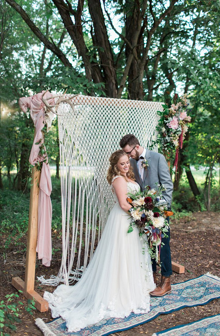 Romantic Country Lodge Boho Luxe Wedding Inspiration