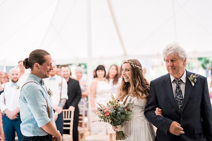 Jen and Adam's Australian Inspired Natural, Bohemian Wedding by Kathryn Hopkins