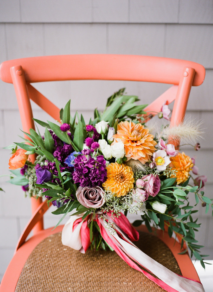Nina and Margaret's 'Farmer's Market Chic' Flower Filled Wedding in Main by Emily Elizabeth Events