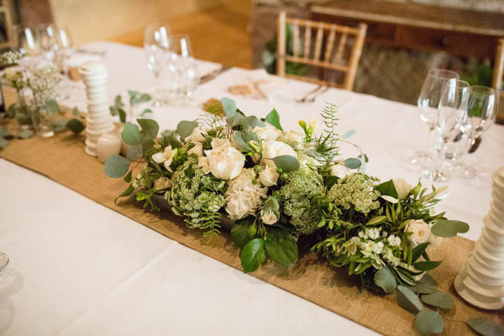 Julia and Ed's Country Themed Barn Wedding with Greenery, Hessian and Jam Jars by Nicola Gough