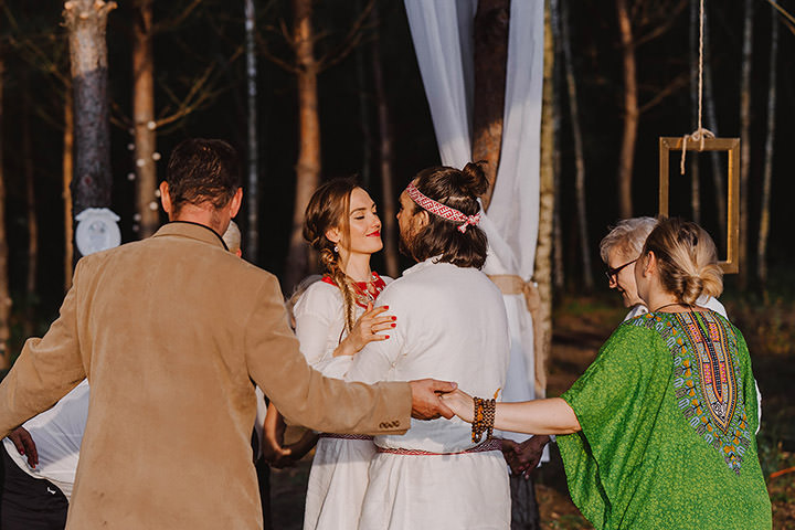 Marti and Michael's Intimate and Emotional Traditional Slavic Pagan Wedding by Ajem Stories