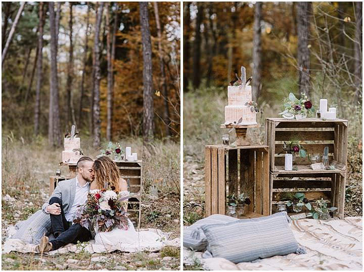 Laid Back and Intimate Autumnal Boho Forest Elopement Inspiration