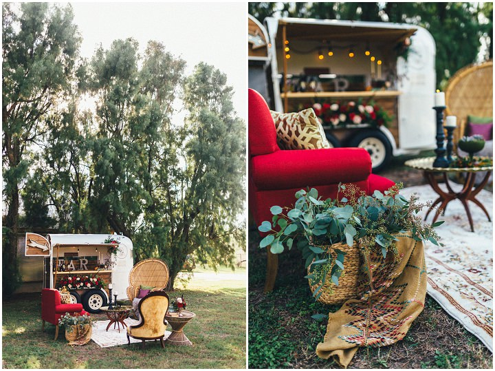 'Crimson and Candlelight' Moody Bohemian Wedding Inspiration