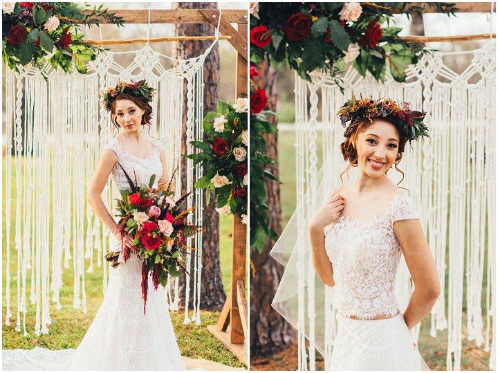 Caribbean Boho Wedding Inspiration: 'Crimson And Candlelight' Moody Bohemian Wedding