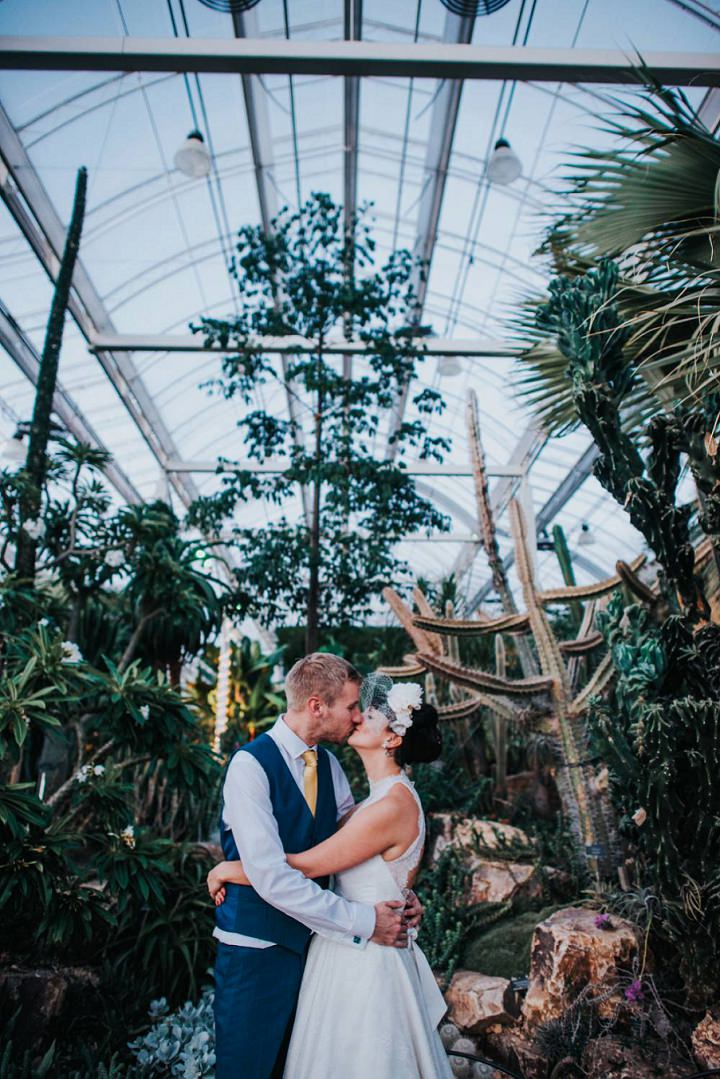 Sadie and Rene's Hot Pink Tropical Greenhouse Wedding by This and That Photography