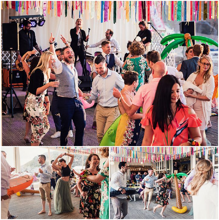 Ollie and Fernando's Bright and Colourful, Kitsch Cornish Beach Wedding by Laura May Photography