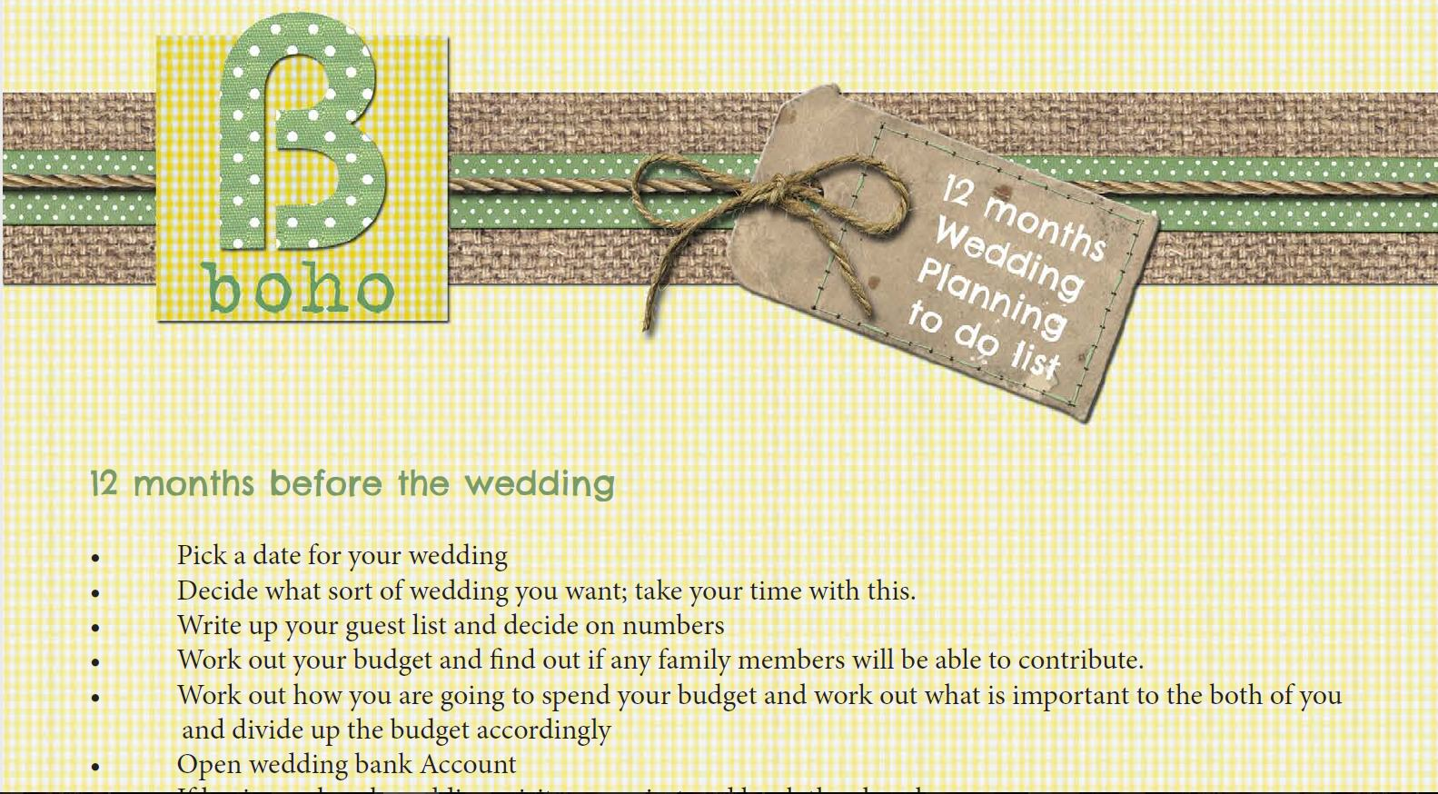 Wedding Planning Made Easy With Our FREE Downloadable 12 Month Wedding Planner