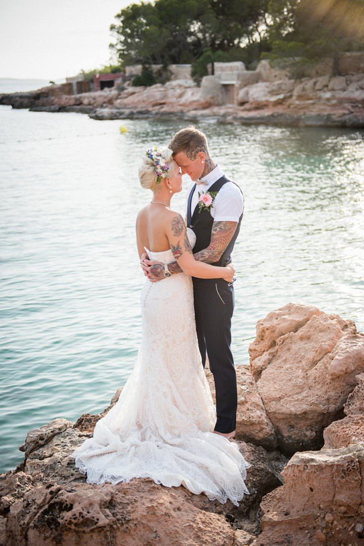 Natalie and Scott's 'Flower Power' Beach Side Ibiza Wedding by Gypsy Westwood
