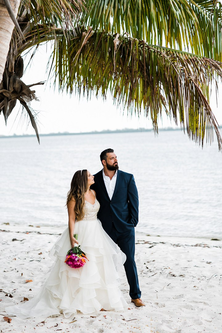 Christian and Kandace Tropical Themed Florida Beach Wedding by Christina Craddock Photography