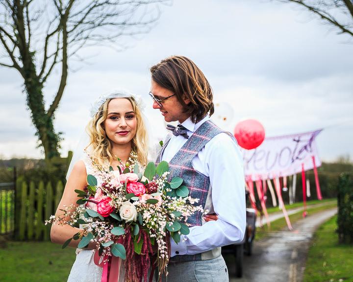 Pink Loving Valentines Shoot For the Modern Fun Loving Bride