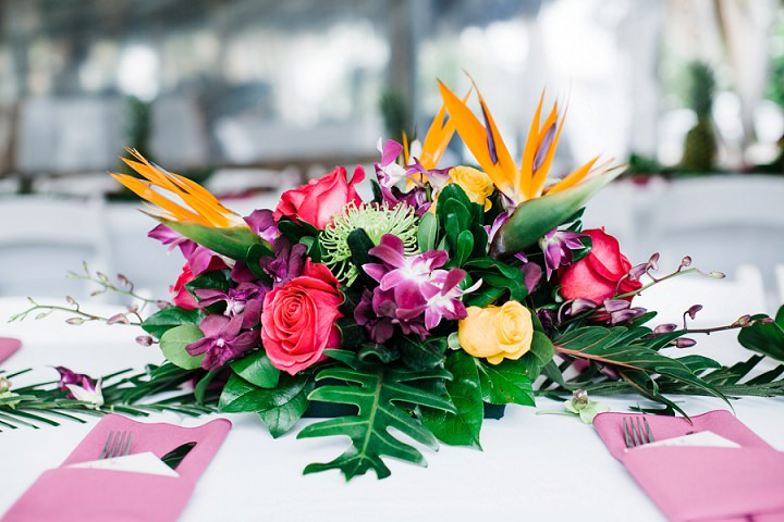 I Do Love A Tropical Themed Wedding The Colours Are So And These Work Perfectly Against White Sandy Beach Also Bridesmaids Dresses