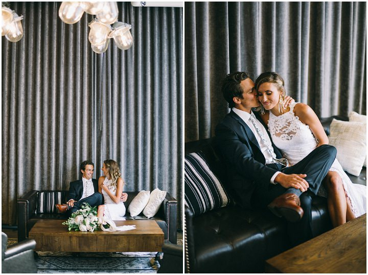 Louis and Alexandra's Super Glam Bohemian meets Industrial Wedding by Jaimee Morse Photography