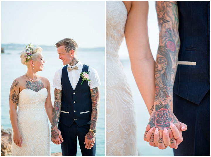 Natalie and Scott's 'Flower Power' Beach Side Ibiza Wedding by Gypsy Westwood