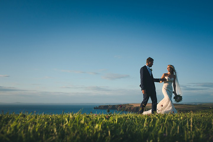 James and Holly's Romantic and Relaxed Blush Pink Pembrokeshire Wedding by Hannah Miles Photography