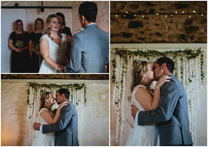 Anna And Tyler S Rustic Blue And Grey Cow Shed Wedding